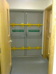 Fire Exit with Drop Bars - Vets Nottingham
