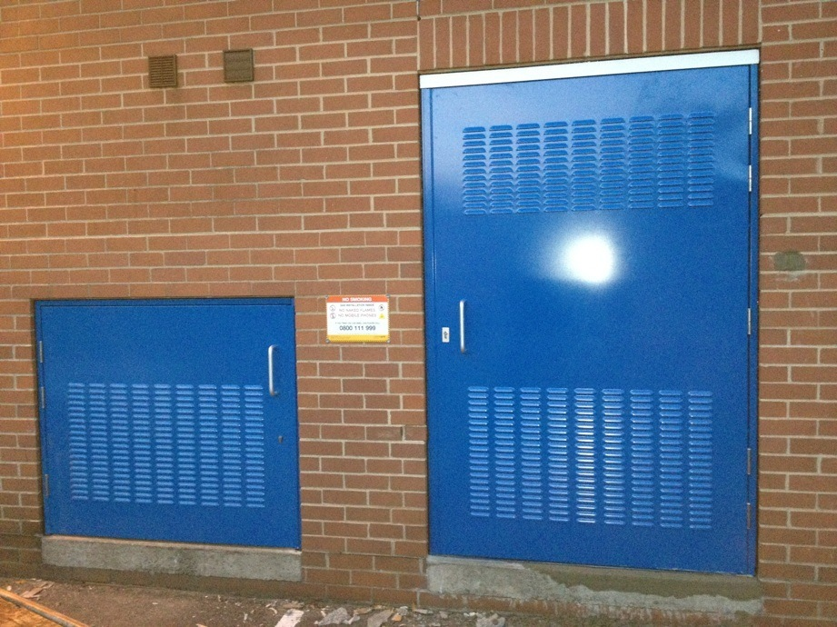 Plant Room Doors - Lincoln Carehome