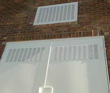 Substation Door Louvred Wall Panel - Mexborough