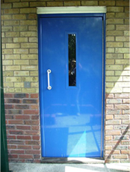Communal Entrance Door Blue