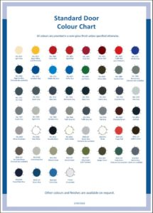 Benchstop Security Doors Colour Chart
