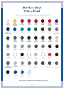 Benchstop Security Doors Colour Chart